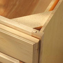 Close Up Of Cabinet With Standard Aristokraft Construction