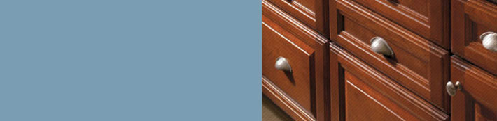Close up of Aristokraft cabinet doors and drawer fronts