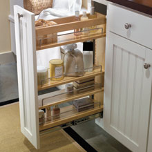 Aristokraft bathroom vanity cabinet storage pullout