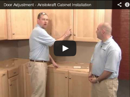 Cabinet door adjustment installation video