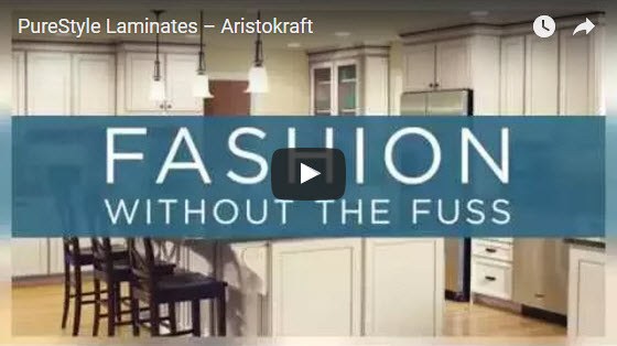 Still image from Aristokraft PureStyle Laminate video