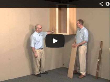 Wall cabinet installation video