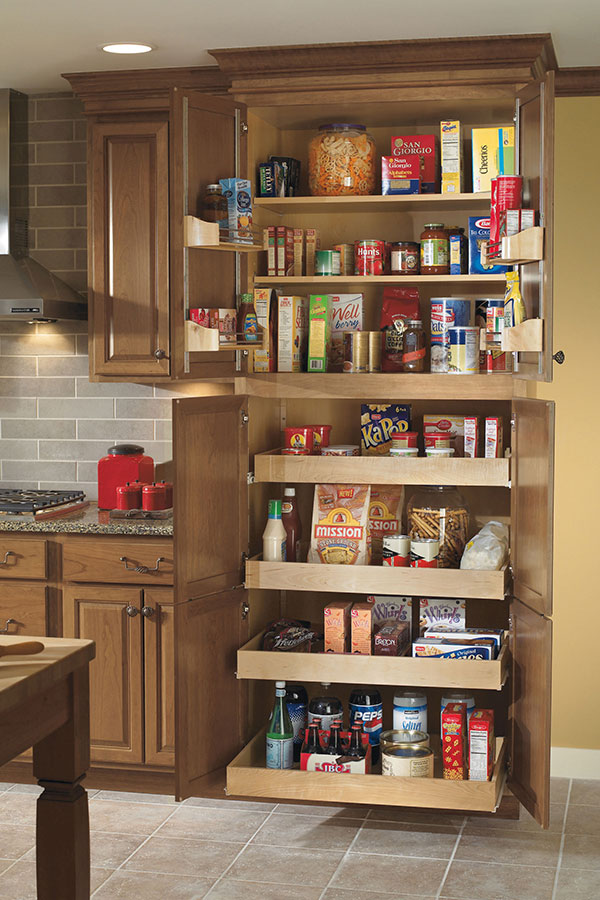 Beautiful Utility Cabinet With Roll Trays; 36 Inch Pantry SuperCabinet