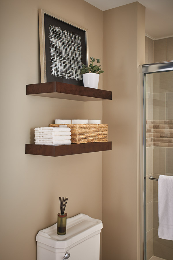 Floating Shelves in Stone Gray laminte