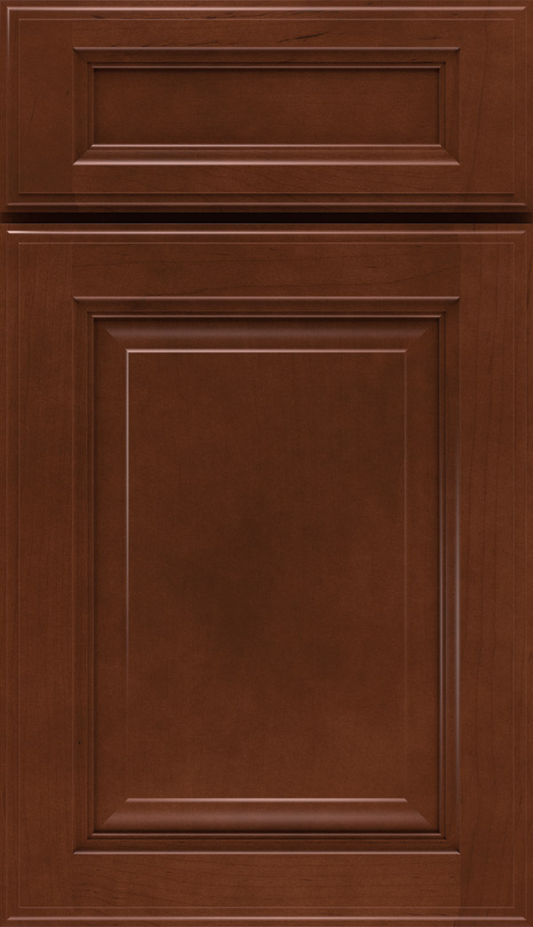 Avalon; Briarcliff II 5 Piece Maple Raised Panel Cabinet Door In Cafe