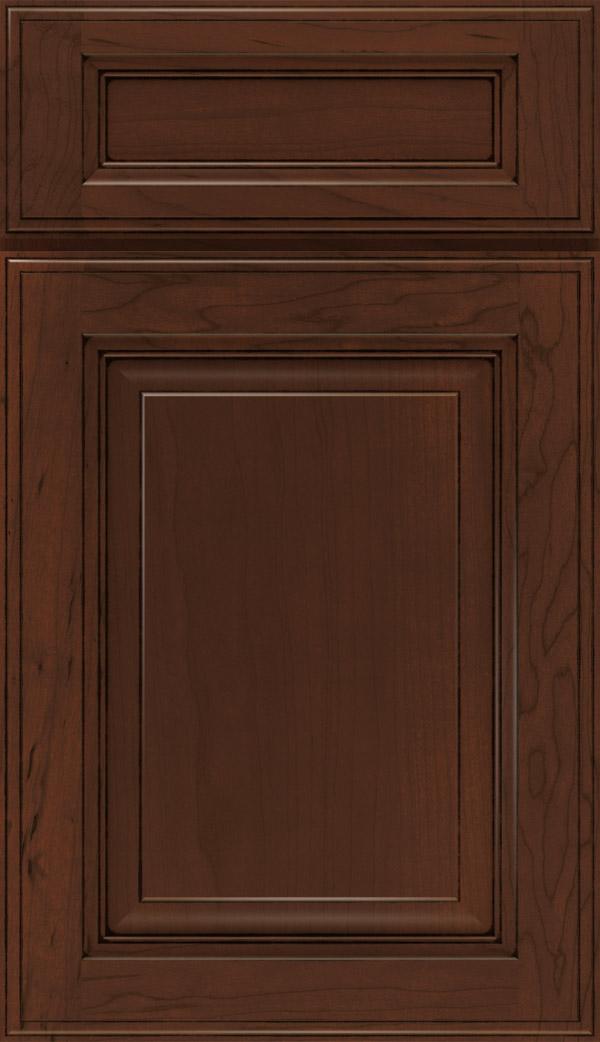 Avalon; Briarcliff II 5 Piece Maple Raised Panel Cabinet Door In Java Glaze
