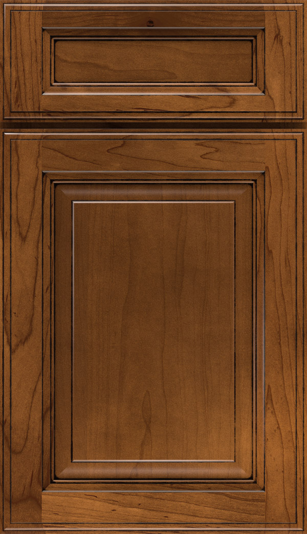 Briarcliff II 5-piece Maple raised panel cabinet door in Pumpernickel
