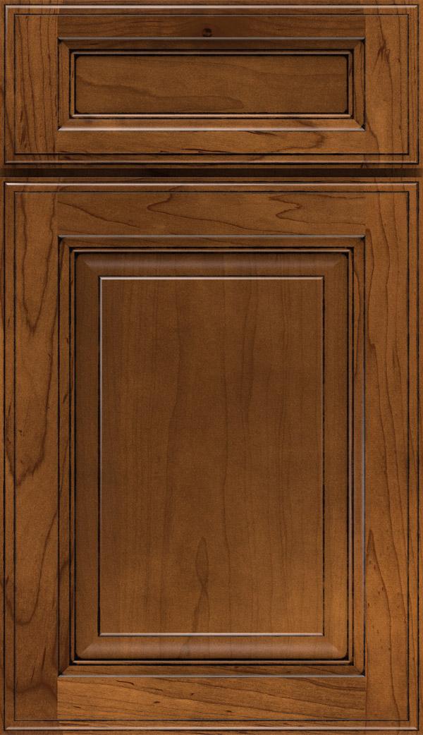 Avalon; Briarcliff II 5 Piece Maple Raised Panel Cabinet Door In  Pumpernickel