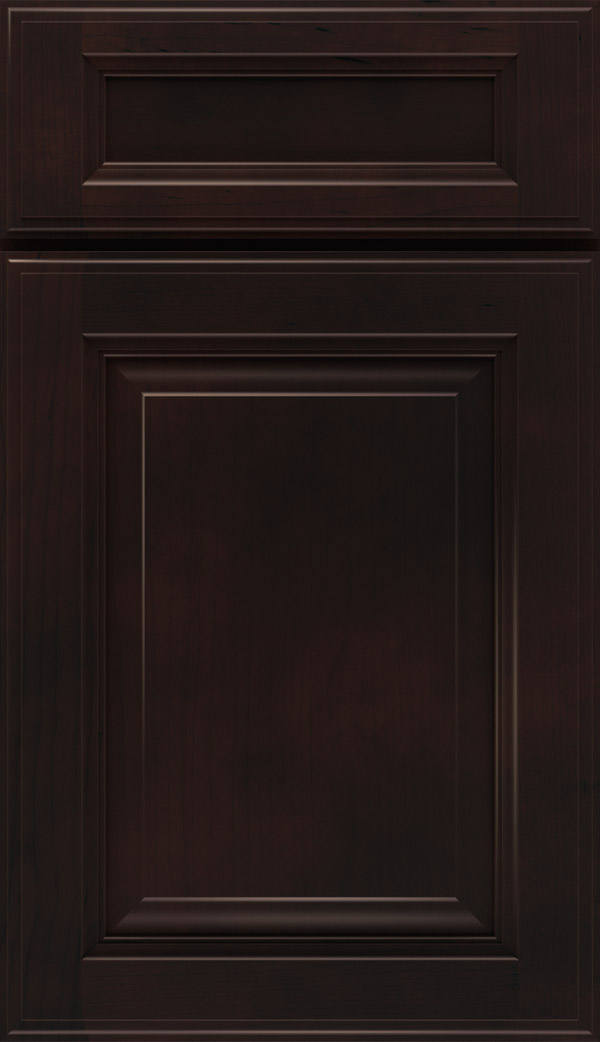 Briarcliff II 5-piece Maple raised panel cabinet door in Sarsaparilla