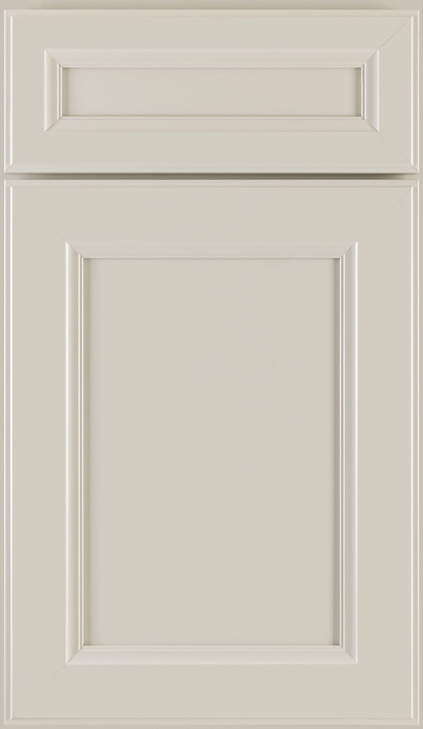 Durham 5-Piece PureStyle laminate cabinet door in Glacier Gray
