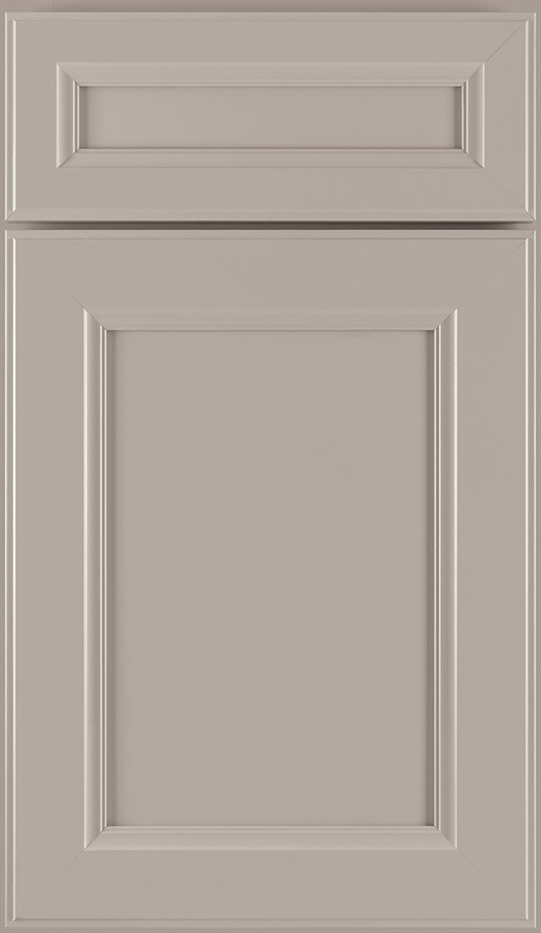 Durham 5-Piece PureStyle laminate cabinet door in Stone Gray