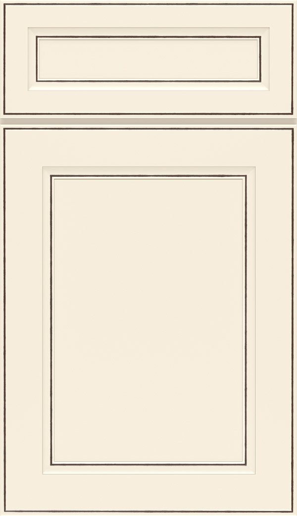 Durham 5-Piece PureStyle laminate cabinet door in Toasted Antique