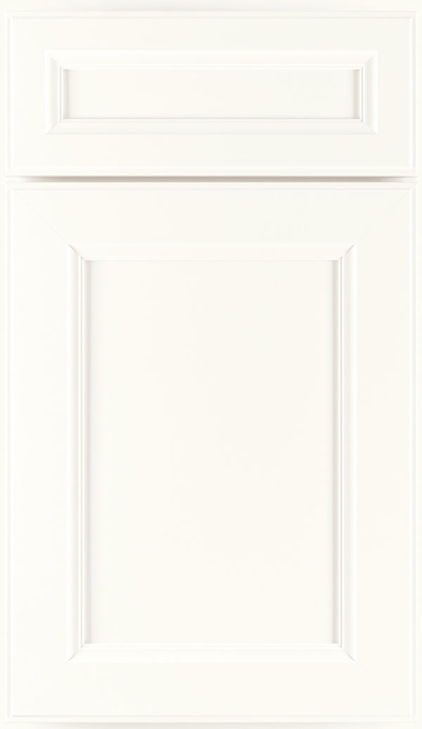 Durham 5-Piece PureStyle laminate cabinet door in White
