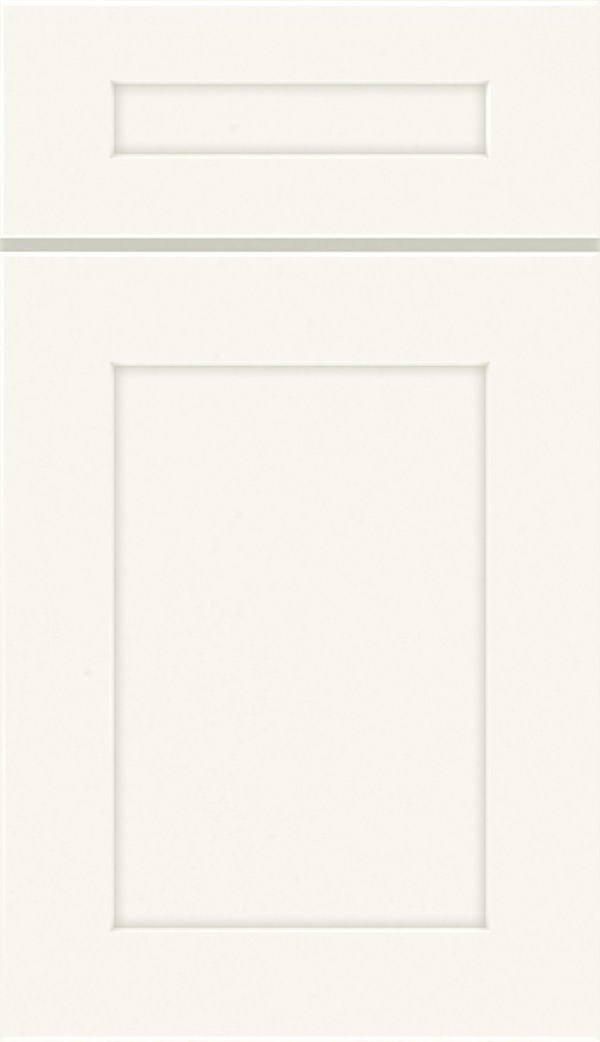 Korbett 5-piece maple flat panel cabinet door in white