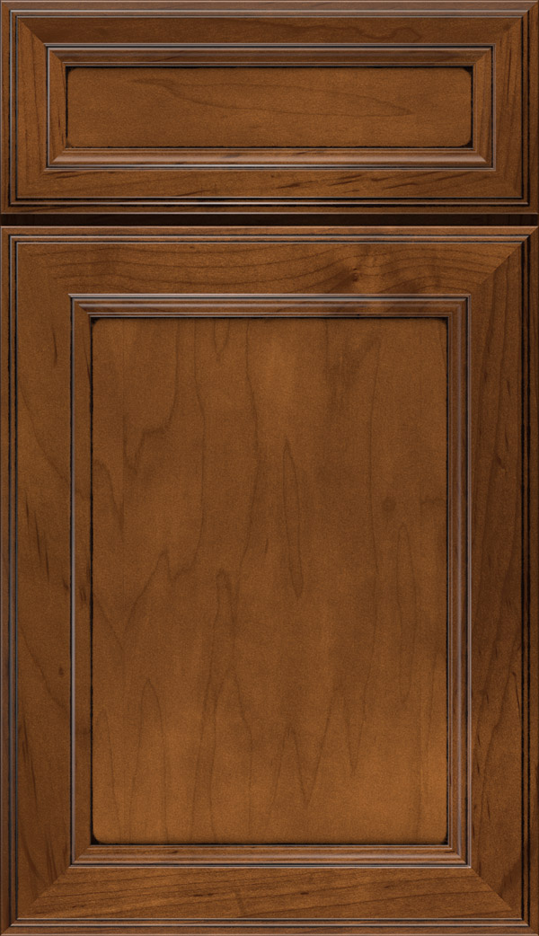 Wentworth 5-piece Maple flat panel cabinet door in Pumpernickel