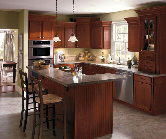Dark Cherry Kitchen Cabinets By Aristokraft Cabinetry ...