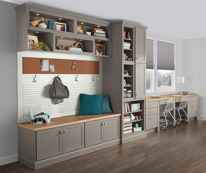 Shaker Style Cabinets In Office Aristokraft Cabinetry