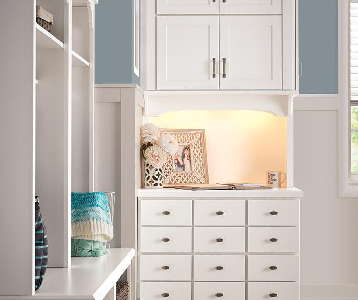 White Hallway Storage Furniture: White Entryway Storage Cabinets