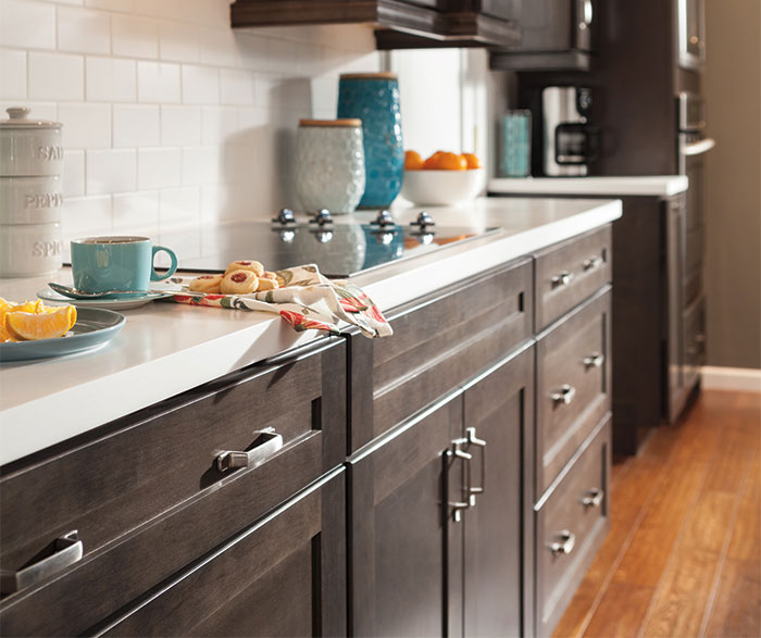 Dark gray kitchen cabinets by Aristokraft Cabinetry
