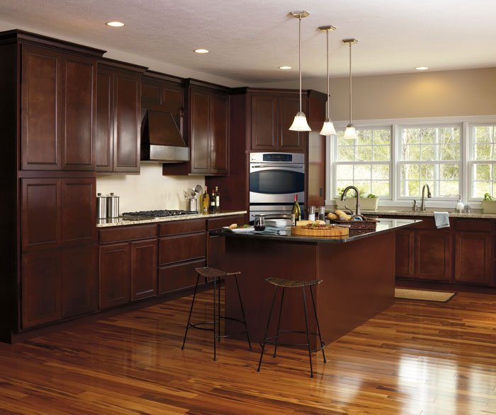 Brown Oak Kitchen Cabinets: Maple Wood Kitchen Cabinets
