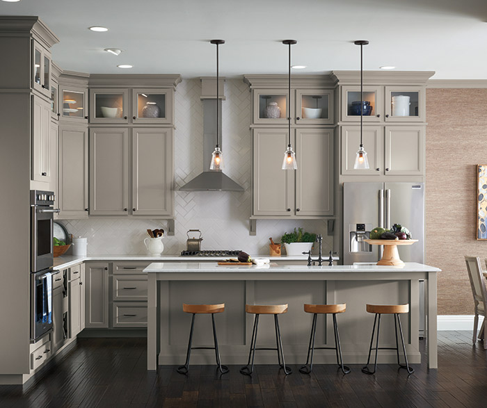 Grey Kitchen Cabinets: Stone Gray Laminate Cabinets