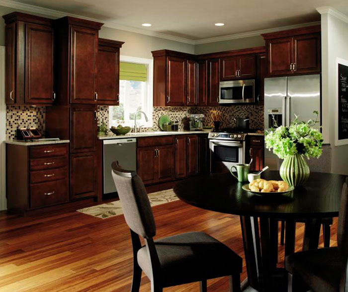 Genial Dark Wood Kitchen Cabinets By Aristokraft Cabinetry ...