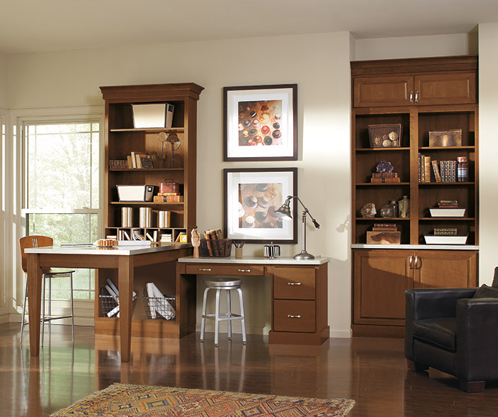 Good contemporary home office Ceiling Contemporary Home Office Cabinets In Saybrooke Birch Saddle Arnndginfo Contemporary Home Office Cabinets Aristokraft