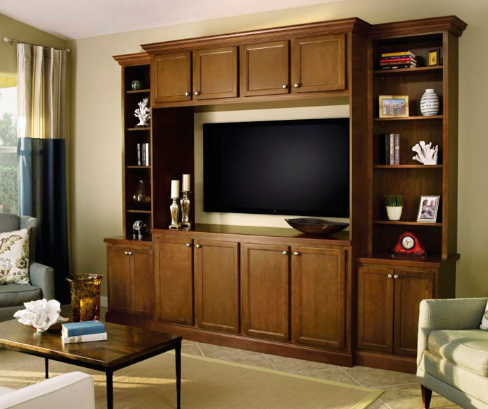 living room cabinet in birch wood by aristokraft cabinetry - Living Room Cabinet