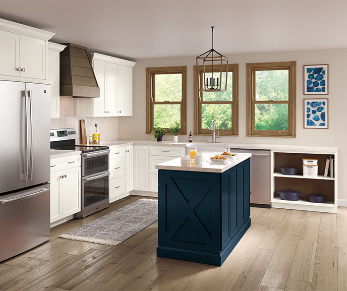 casual_painted_white_and_purestyle_blue_kitchen_cabinets
