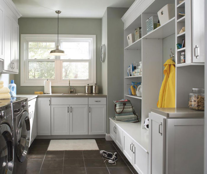 Marvelous ... Laundry Room Cabinets In Painted White Maple By Aristokraft Cabinetry  ...