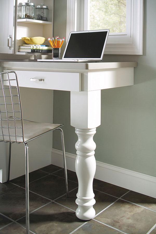 English Island Column Leg Aristokraft Cabinetry