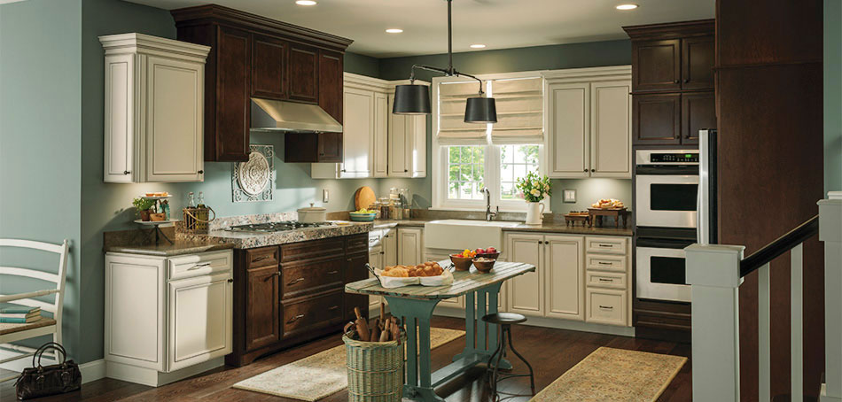 Overton Purestyle laminate cabinets in a rustic kitchen