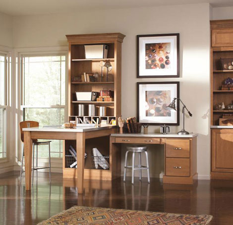Saybrooke birch cabinets in Fawn finish in contemporary office