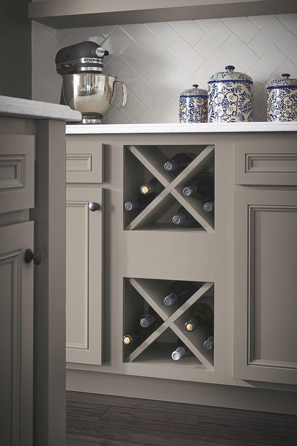 Wine Storage Cabinet in Stone Gray laminate