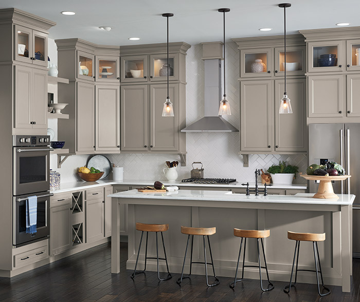Gray kitchen with Lillian laminate cabinets