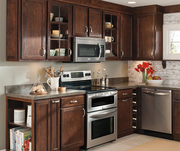 Oak kitchen cabinets by Aristokraft Cabinetry