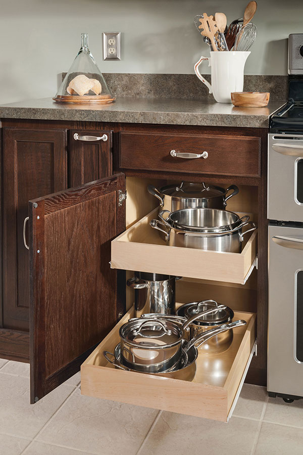 Base Roll Tray Cabinet Aristokraft Cabinetry